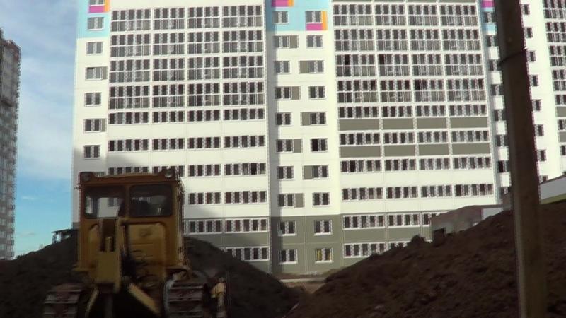 Видео съемка строительных работ ЖК Акварель Оренбург 17.06.2018 часть 3
