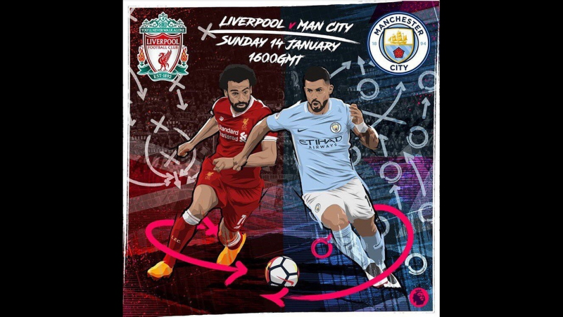 Kun Aguero vs. Liverpool 14.01.18