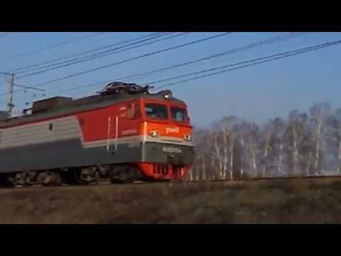 ВЛ10у-154 с перегоняемым ТЭП70 в составе нечётного грузового поезда