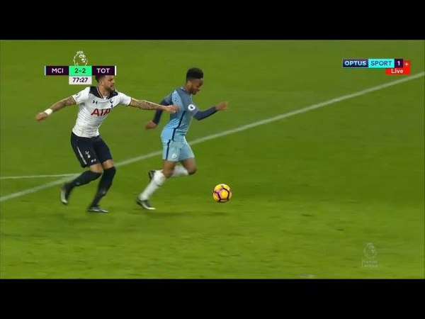 Raheem Sterling's disallowed penalty vs Tottenham Hotspur 01-21-17