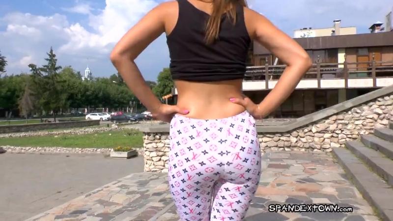 Pantyhose Silky Fetish ass leggings sexy spandex молодая красивая девушка в леггинсах попка в лосинах ножки 720p