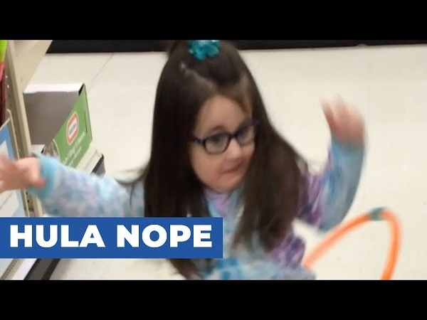 Little Girl Fails At Hula Hooping