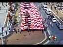 Спасибо Россия хорватские болельщики развернули 50 метровый баннер в центре Москвы 11 07 18