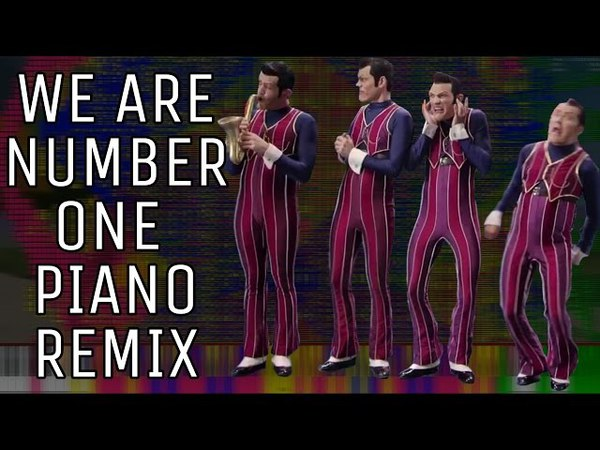 We Are Number One piano remix but every time it says one, it gets more impossible