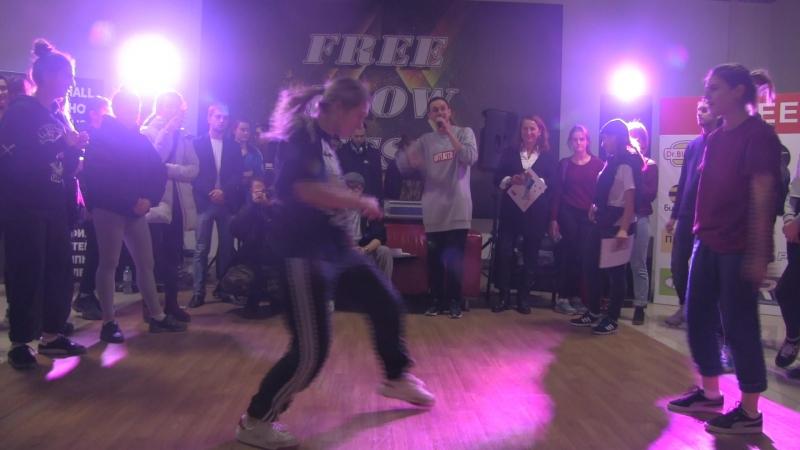 Free Flow Fest 2017. Hip Hop pro. Полуфинал. Kostyan vs. Молодая