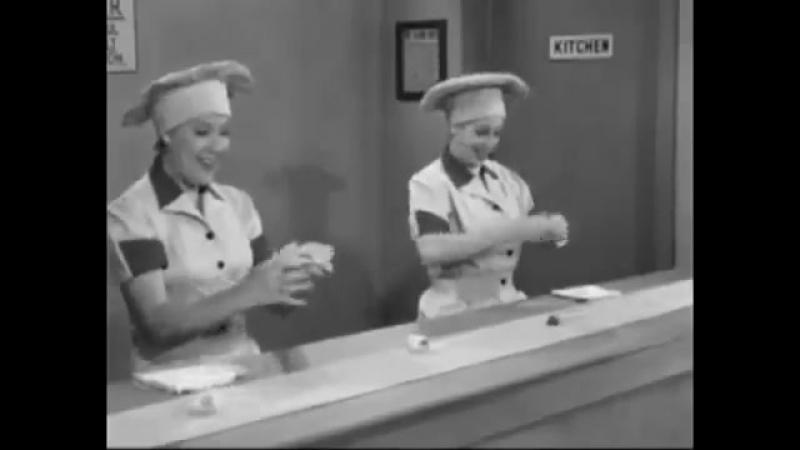 На шоколадной фабрике отрывок из I Love Lucy