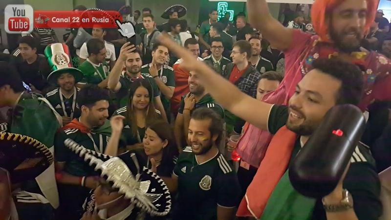 Moscú al ritmo de rancheras tras el México 1- 0 Alemania