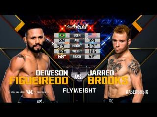 UFC Fight Night Наилегчайший вес Дейвесон Алкантара Фигейредо — Джаред Брукс