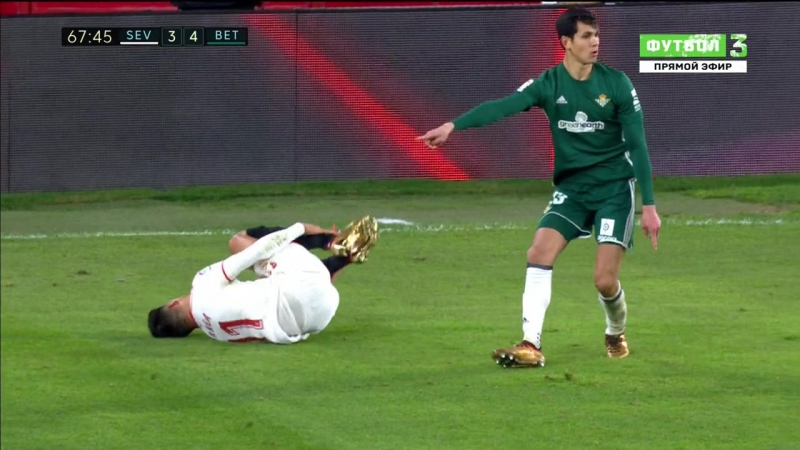 Чемпионат Испании 2017-18 / Primera Division / 18-й тур / Севилья - Бетис / 2 тайм [720, HD]