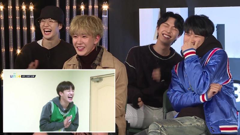 [SHOW: 180119] Unit B смотрят выступление команды 'You're Mine' (내꺼) Reality ver. (FEELDOG)