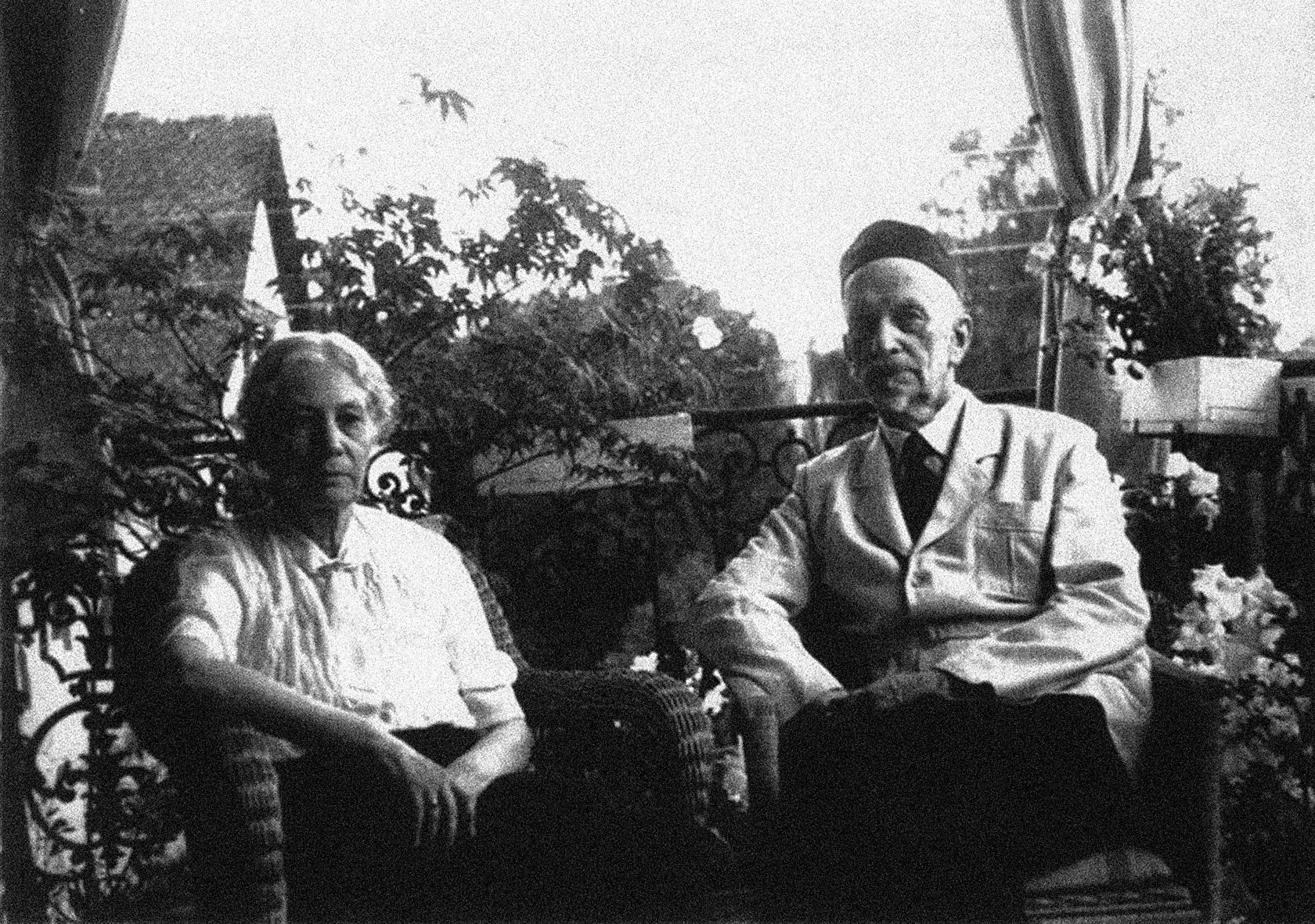 И. А. Ильин с женой. Начало 1950-х гг.