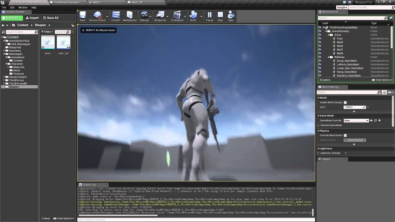 UE4.10.1 - Part 1 - Howto holster a weapon