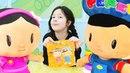 Çizgi film oyuncakları Pepee ve Şila. Peçete koleksiyonu