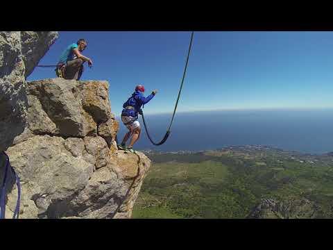 Прыжки с Шаан-Каи (235 метров) с командой RAPT - Антон