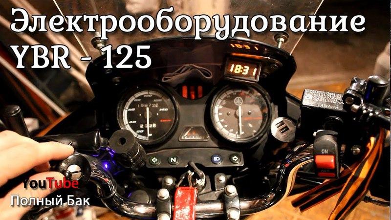 Электрооборудование: прикуриватели, вольтметр, термометр, часы, вентилятор, USB зарядник: Yamaha YBR