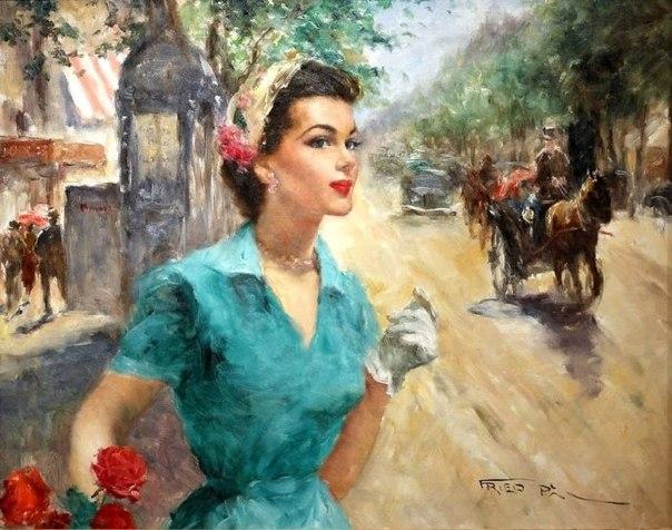 Художник Пал Фрид (Pal Fried) родился в июне 1893 года в Будапеште, изучал живопись в Венгерской академии у профессора Пола Хьюго. Именно в академии под влиянием своего профессора Пал начал писать обнажённые фигуры, сценки из восточной жизни и портреты.