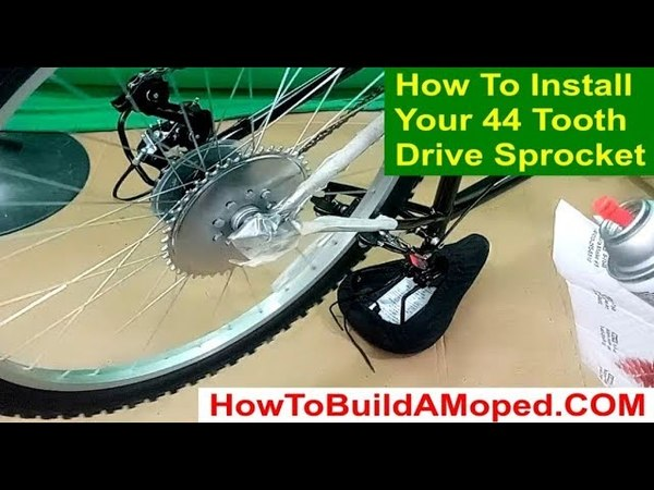 How to install your 44 tooth drive sprocket on your How To Build A Motorized Bicycle Part 5