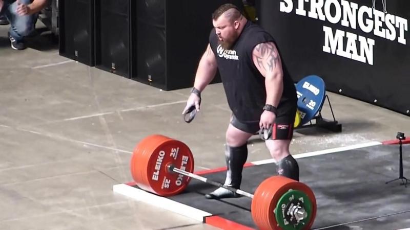 Эдди Холл становая тяга 500 кг