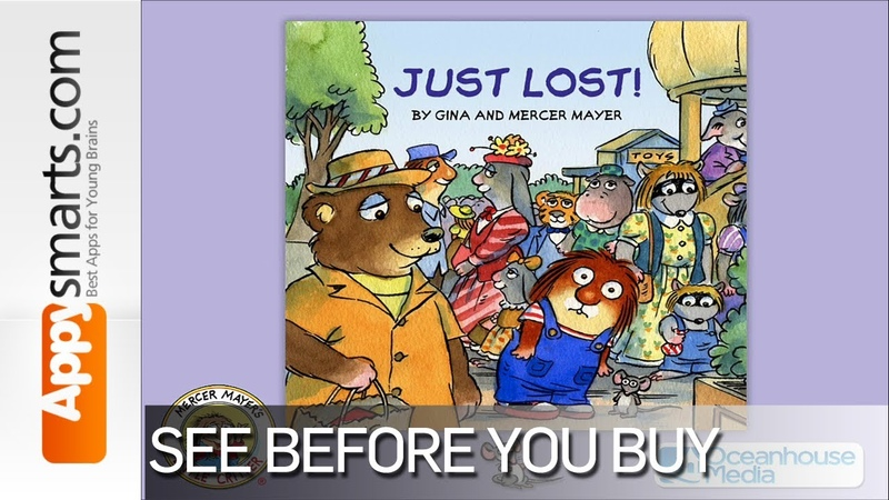 Just Lost - Little Critter book for kids by Oceanhouse Media [ages 2, iPad, iPhone, Android]