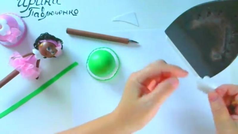 Ч.1 Изготавливаем подставку, обтягиваем ручку и шарики для подставки и для голов