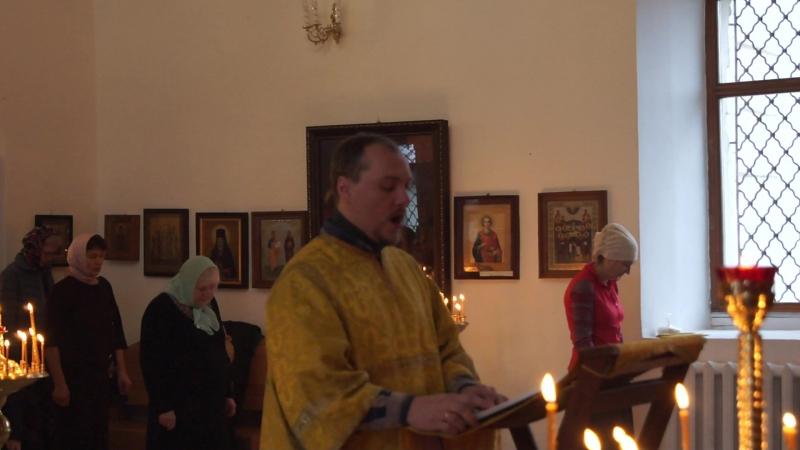 19 ноября 2017 г. Алексей Шитиков читает Апостол