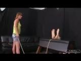 The mistress bastinado a slave