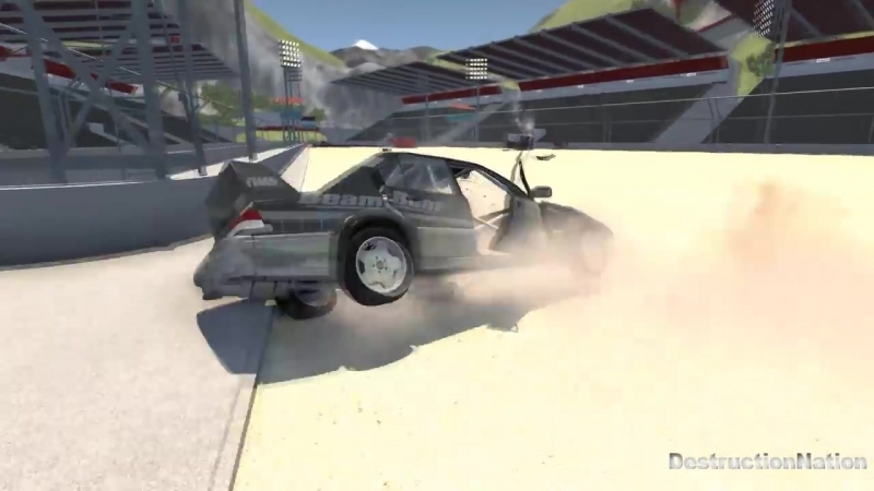 [DestructionNation] High Speed JumpsCrashes 34 - BeamNG Drive Crash Testing
