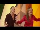 Адриана, Дебора Секку и Джованна Антонелли на съёмках передачи Fantastico