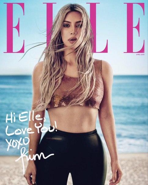 Ким Кардашьян для журнала Elle, апрель 2018