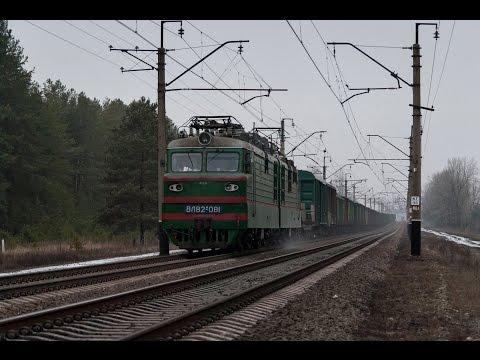 Електровоз ВЛ82М 081 з вантажним поїздом на перегоні Форпостна Красний Лиман