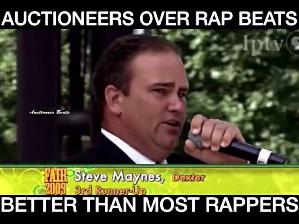 Auctioneers Over Rap Beats Better Than Most Rappers