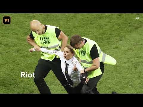 ЧМ-2018. Финал. Франция - Хорватия. Pussy Riot | Акция Милиционер вступает в игру