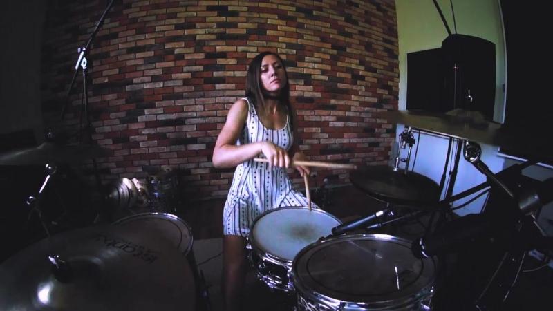 Nirvana - In Bloom - Drum cover - Лидия Комарова(GORODKOVDRUM)