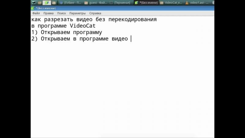 Как вырезать фрагмент видео без перекодирования в программе VideoCat