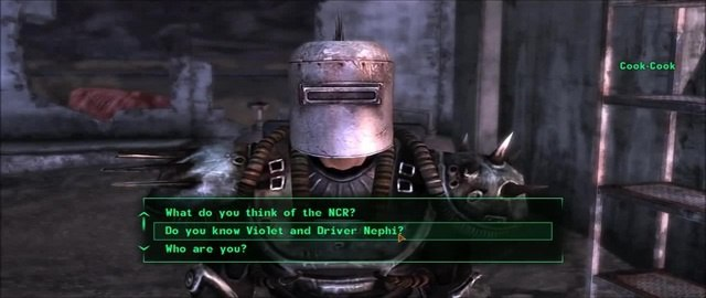 Fallout: New Vegas - Talking to Cook-Cook