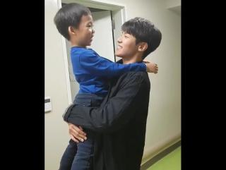 Minhyuk and a boy