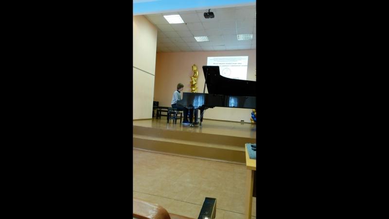 2017г.Андрей Конради на областной конкурсе Созвучие