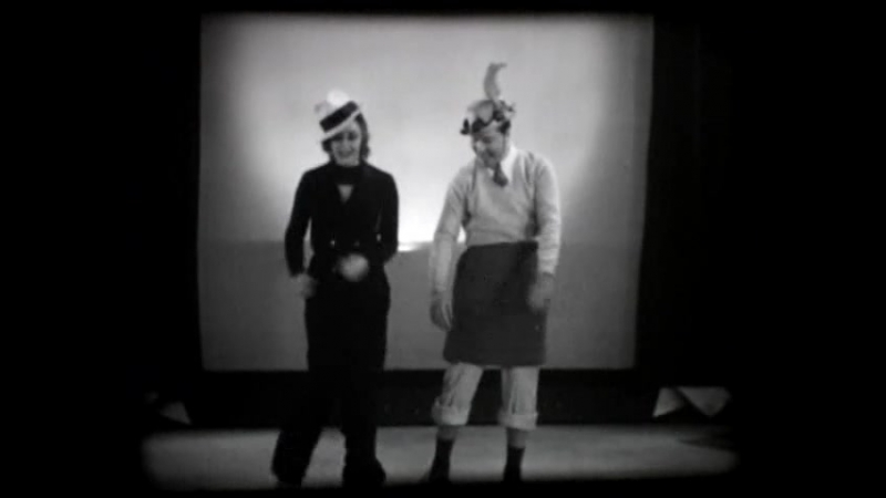 Ginger Rogers And Jack Oakie Goof Around With A Song