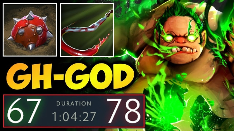GH-GOD Pudge ft Full Items Techies - Absolutely Cancer Game