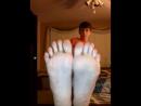 teen boy showing his soles