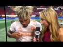 Josef Martinez reacts to tying the MLS single-season goals record in @ATLUTDs 3-1 win over Columbus.