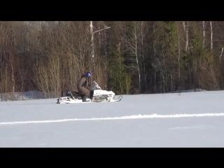 Снегоход Polaris Widetrak LX зажигает!