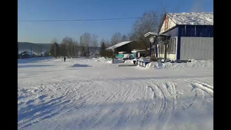 Сход снежной лавины на Осиновый Мыс