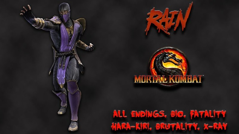 Mortal Kombat - All Fatality, Bio, Ending - Rain