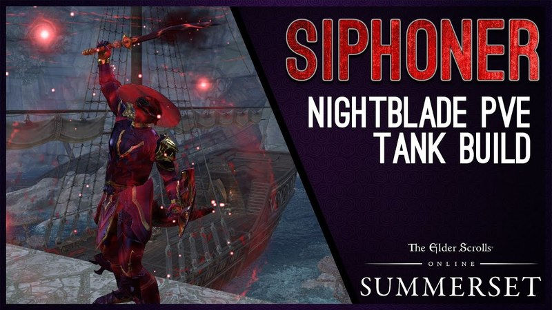 Nightblade Tank Build Siphoner - Summerset Chapter ESO
