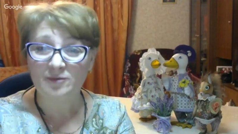 Светлана Юдина Весёлая Клоунесса в технике грунтованный текстиль.