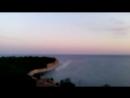 Голубая бухта, рассвет. Вид с 5 этажа, вдали - Геленджик. 2015 г.