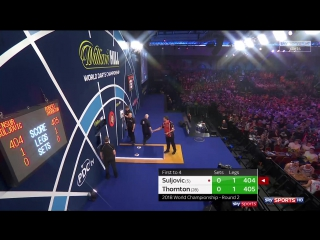 Mensur Suljović vs Robert Thornton (PDC World Darts Championship 2018 / Round 2)