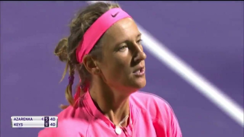 «vika7 saves set point with a gutsy drop shot