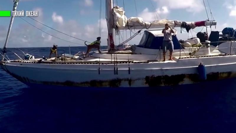 В Тихом океане спасли американок и их собак, которые пять месяцев дрейфовали на яхте